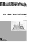 Framsidan på Regionmuseet Kristianstads rapport från 2006 om den skånska livsmedelsindustrin.