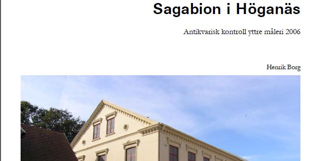 Framsidan på Regionmuseet Kristianstads rapport